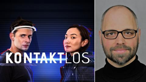 """Regisseur Marc Ermisch (rechts) und die beiden Hauptdarsteller von """"Kontaktlos"""" Ariana Gansuh (Mitte) und Dominic Betz (links)"""