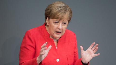 Angela Merkel bei der Generaldebatte im Bundestag