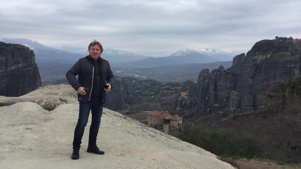 Unser Korrespondent Michael Lehmann bei den Meteora-Klöstern
