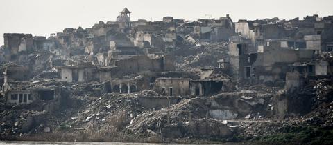 zerstörte Altstadt von Mossul