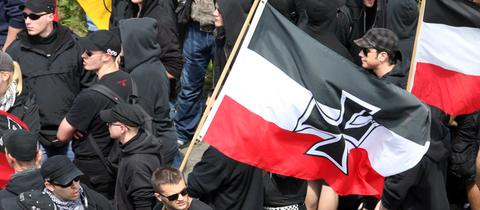 Neonazi Aufmarsch in Frankfurt