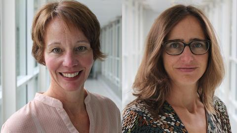 Die Autorinnen: Petra Boberg und Juliane Orth (hr-iNFO-Politikredaktion)