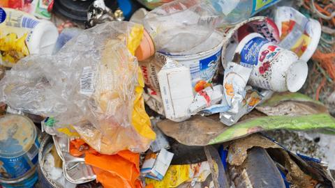Ein Haufen Plastikmüll