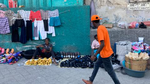 Straßenverkäufer in Haitis Hauptstadt Port-au-Prince