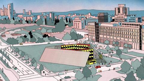 Visualisierung: So könnte ein Open-Air-Theater in Berlin aussehen.