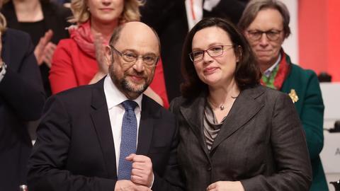 Martin Schulz und Andrea Nahles (SPD)