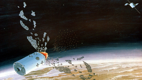 Zeichnung eines US-amerikanischen ASAT-Systems, 1983