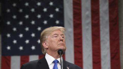 Donald Trump bei seiner Rede zur Lage der Nation