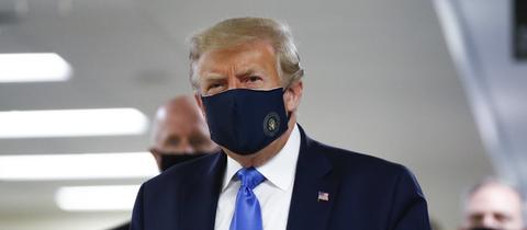 US-Präsident Trump mit Mund-Nasenschutz