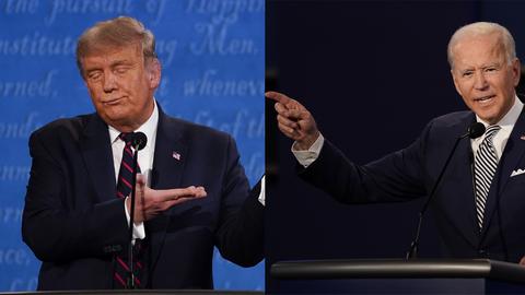 Donald Trump und Joe Biden bei ihrem ersten TV-Duell
