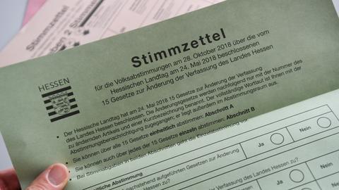 Volksabstimmung Hessen - Wahlzettel