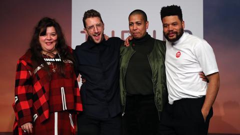 Die Gewinner des Turner-Preises 2019 Tai Shani (von l.), Lawrence Abu Hamdan, Helen Cammock und Oscar Murillo.