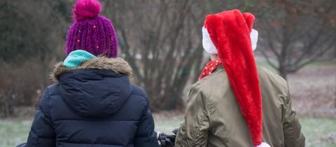 Schüler vor den Weihnachtsferien