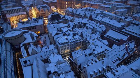 Altstadt Frankfurt im Winter