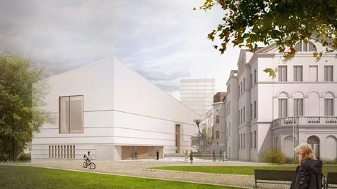 Skizze Außenansicht Neubau Jüdisches Museum Frankfurt